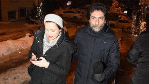 Mustafa Uğurlu, sevgilisiyle kar romantizmi yaptı