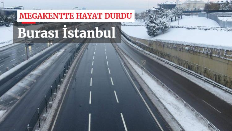 Okullar tatil edildi, vatandaşlar toplu taşımaya yöneldi, İstanbul yolları boş kaldı...