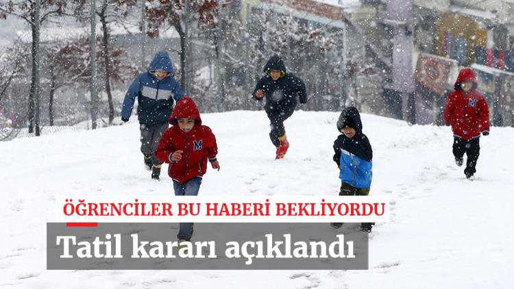 Kar yağışığının yeniden başlamasının ardından öğrencilerin tweet yağmuruna tuttuğu İstanbul Valisi Vasip Şahin kararını açıkladı... İstanbul'da okullar yarın da tatil edildi.
