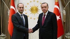 Cumhurbaşkanı Erdoğan, Mikheil Janelidze ile görüştü
