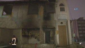 Ankara'da mescitte korkutan yangın