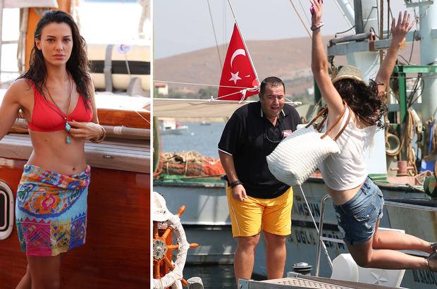 Tuvana Türkay denize düştü!