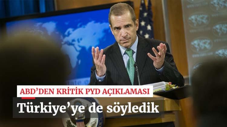 """Türkiye'nin """"PYD'ye destek vermek""""le suçladığı ABD'den bir çıkış daha... Washington, Suriye görüşmelerinde PYD'nin de masada yer alması gerektiğini söyledi."""