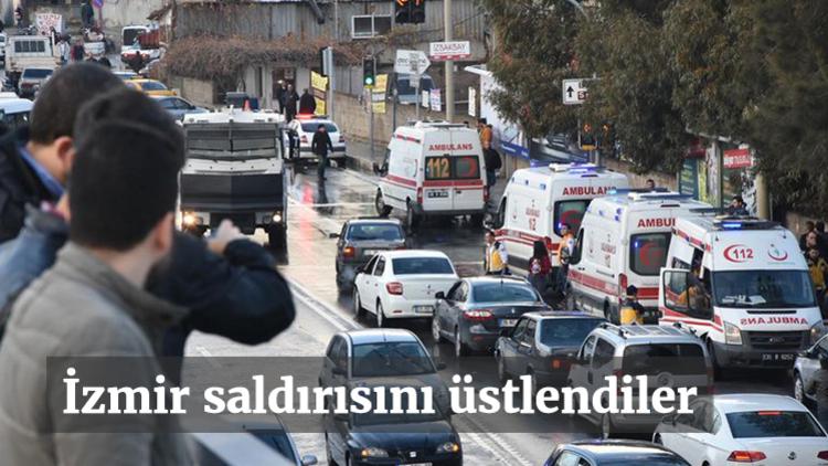 Fethi Sekin ile Musa Can'ın şehit olduğu İzmir'deki hain terör saldırını PKK'nın uzantısı TAK üstlendi...