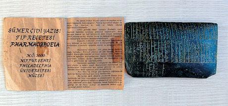 Sümerlerin 5 bin yıllık tıp reçetesi ele geçirildi
