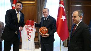 Cumhurbaşkanı Erdoğan Türkoğlu'nu kabul etti
