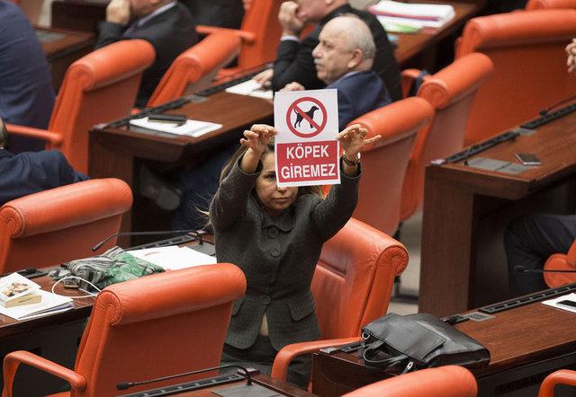 Meclis'te tartışma yaratan afiş