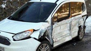 Zonguldak'da meraklı sürücüye kamyon çarptı