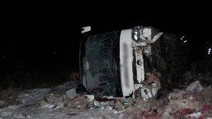 Bilecik'te yolcu otobüsü şarampole uçtu