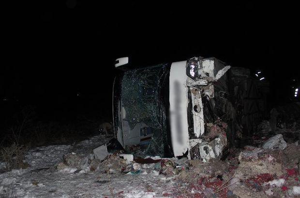 Yolcu otobüsü şarampole uçtu: Yaralılar var