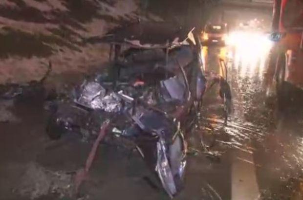 TEM'de korkunç kaza: 1 ölü