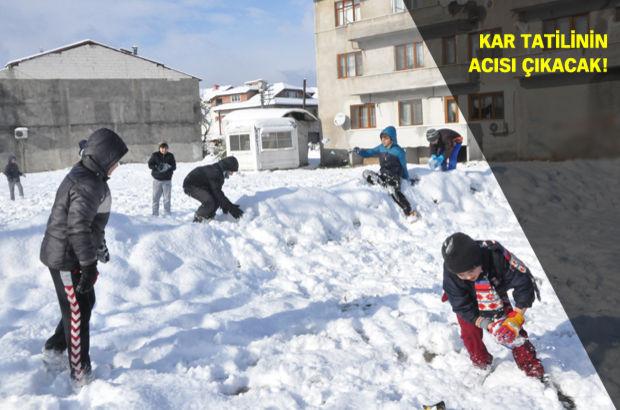 MEB kar tatili telafi eğitimi