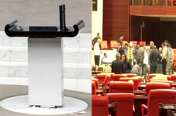 Meclis kürsüsü tamir edildi