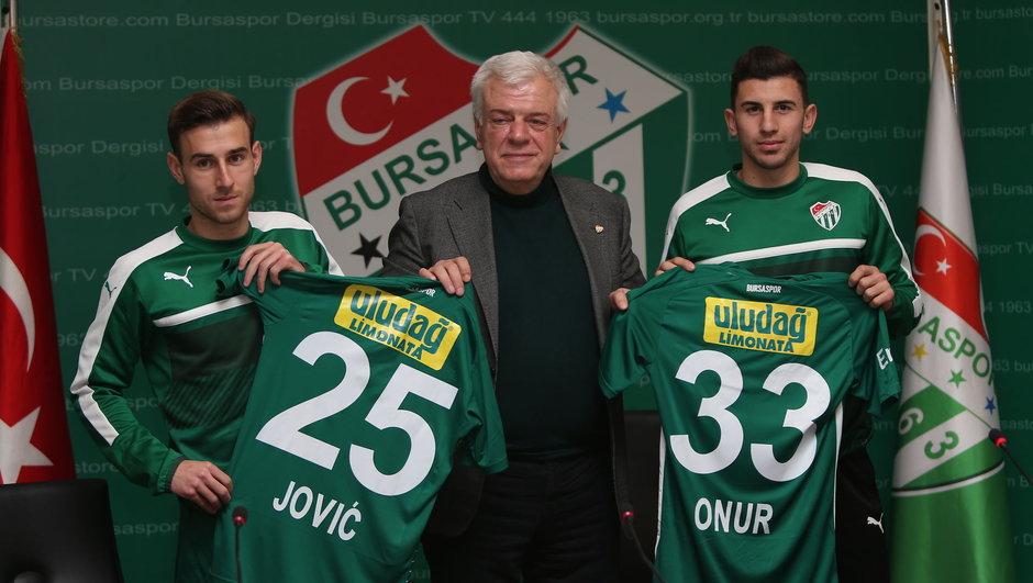 Bursaspor Boban Jovic Onur Atasayar transfer