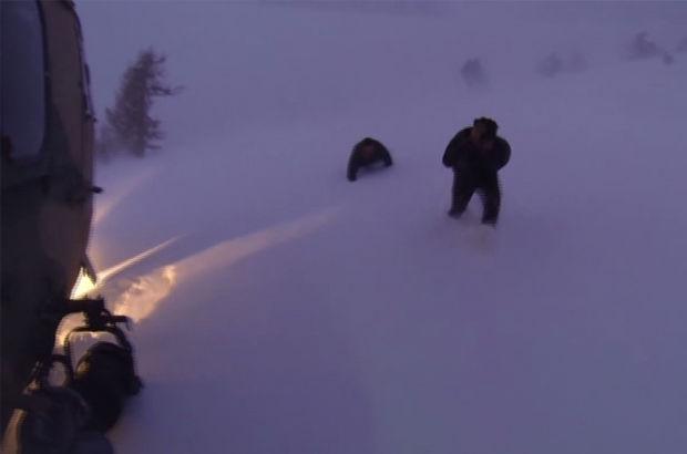 TSK karda mahsur kalanları böyle kurtardı!