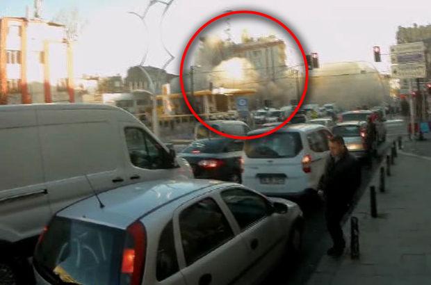 Zeytinburnu'daki bina çökme anı