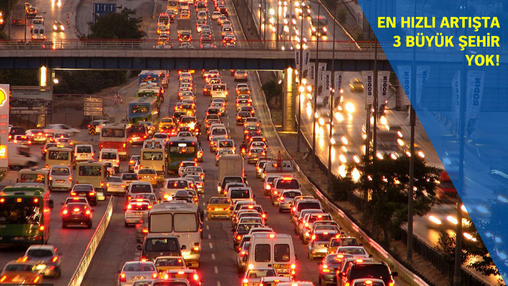 En çok otomobil hangi şehirde?