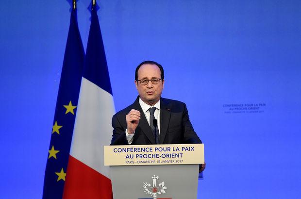 François Hollande: İki devletli çözüm tehdit altında