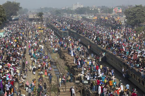 Bangladeş'te 5 milyon müslüman biraraya geldi