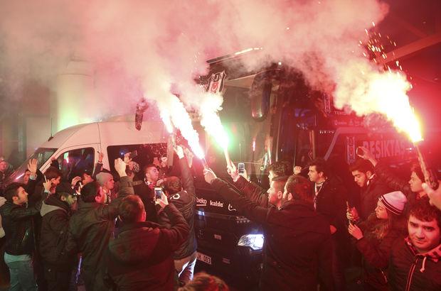 Beşiktaş'a Ankara'da coşkulu karşılama!