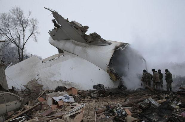 Kırgızistan'da düşen uçağın