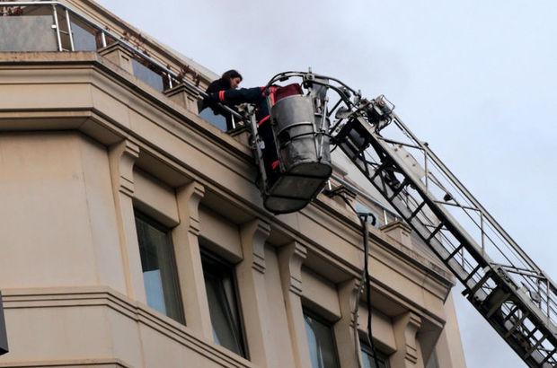 Ataşehir'de 6 katlı binada yangın paniği