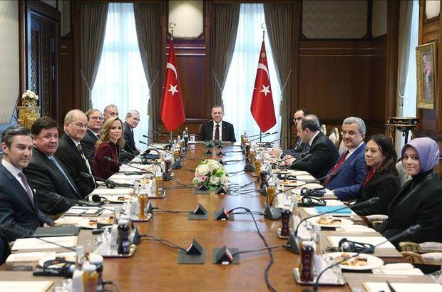 Cumhurbaşkanı Erdoğan, Atlantik heyetini kabul etti