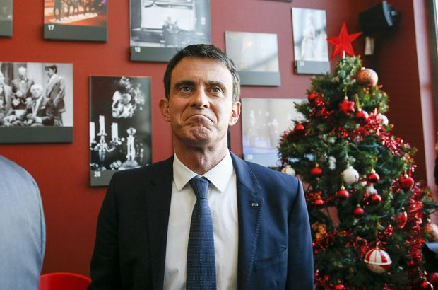 Fransa'da cumhurbaşkanı adayı Manue l Valls'e tokat