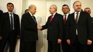 Kemal Kılıçdaroğlu ve Devlet Bahçeli Meclis'te görüşecek