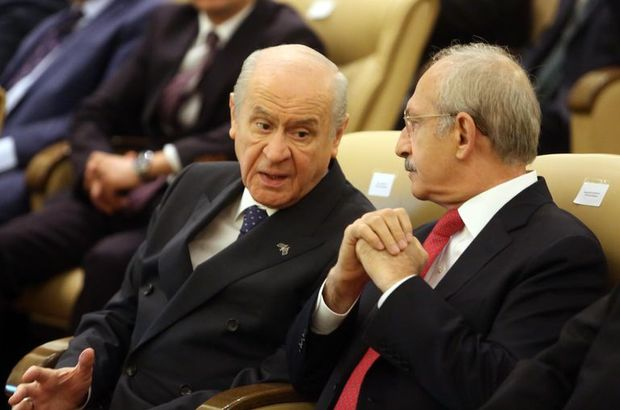 Kemal Kılıçdaroğlu ve Devlet Bahçeli Meclis'te bir araya geldi