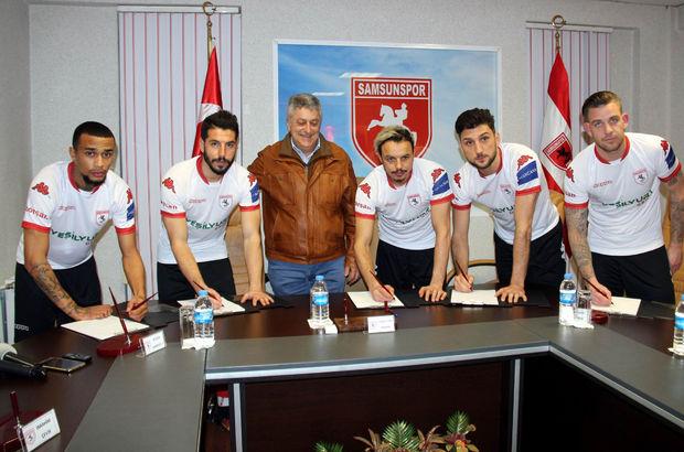 Samsunspor'dan imza şov! 5 isim birden...