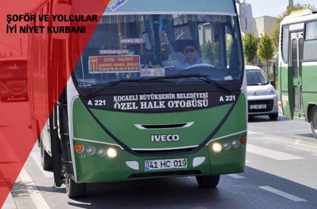 İzmit'te halk otobüsünde akılalmaz dolandırıcılık
