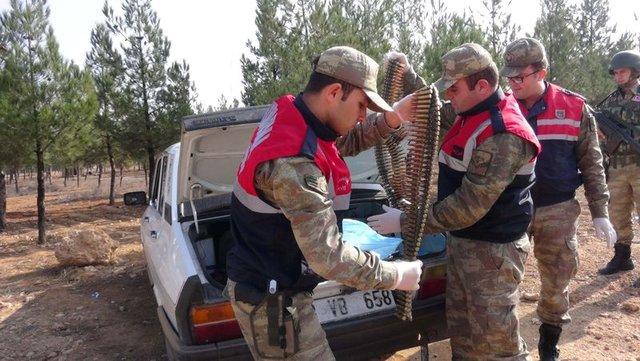 Suriye sınırında mühimmat ele geçirildi