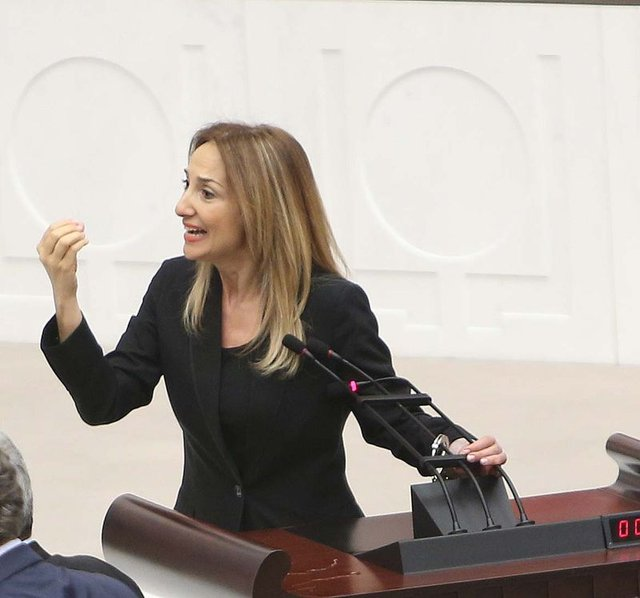 Aylin Nazlıaka'dan Meclis'te kelepçeli protesto