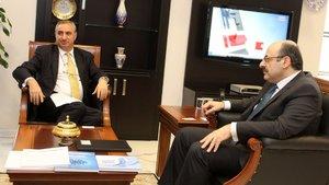 YÖK Başkanı Yekta Saraç, İsrail Büyükelçisi Eitan Na'eh'i kabul etti