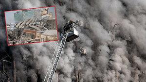 İran'da 17 katlı bina çöktü! 30 ölü