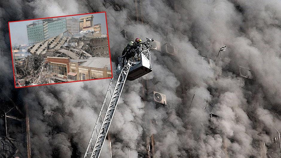 Tahran'ın ilk gökdeleni çöktü! 30 ölü