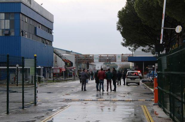 Balıkesir'de fabrika yangını