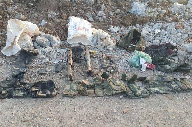 Mardin'de teröristlerin toprağa gömdüğü cephanelik bulundu