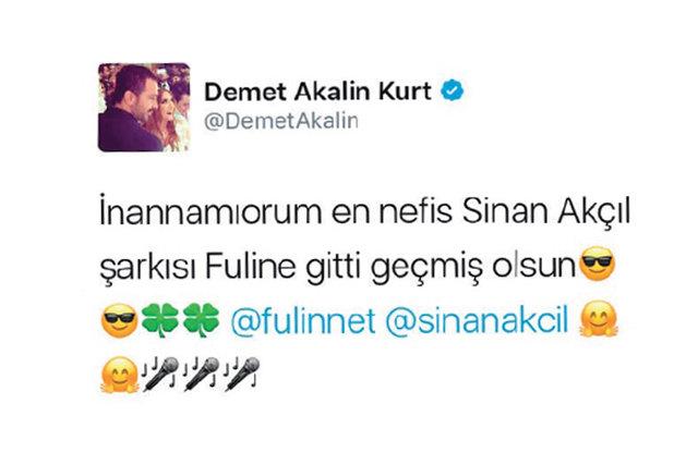 Demet Akalın'dan Fulin'e şarkı jesti