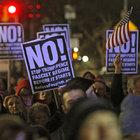 New York'ta Trump karşıtı gösterilere ünlüler de katıldı