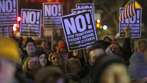 New York'ta Trump karşıtı gösteriler düzenlendi