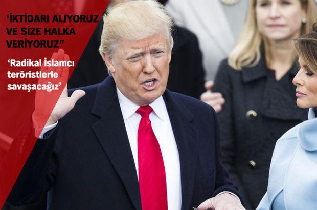 ABD'nin yeni başkanı Donald Trump yemin etti
