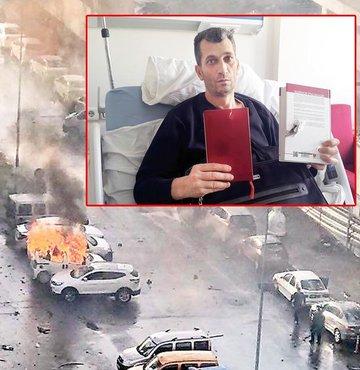 İzmir'de 5 Ocak'ta PKK'lı teröristlerce düzenlenen bombalı ve silahlı saldırıda çatışmanın ortasında kalan Avukat Bülent Karagöz