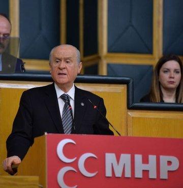MHP Lideri Devlet Bahçeli, Anayasa değişikliği teklifi oylamasının sona ermesi üzerine kısa bir açıklama da bulundu