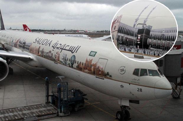 Suudi uçağındaki Kabe fotoğraflı tasarım ilgi gördü