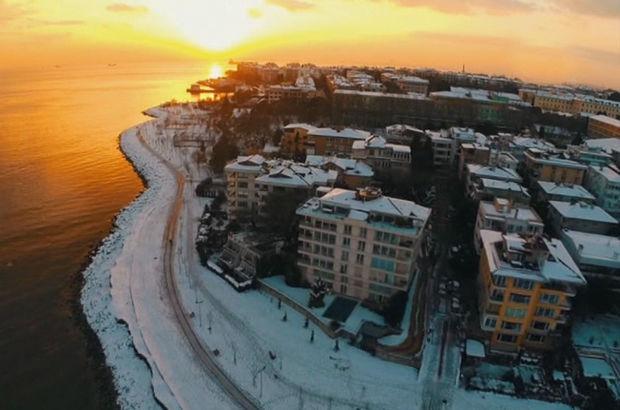 Türkiye'nin havadan çekilen kış manzaraları kendine hayran bıraktı