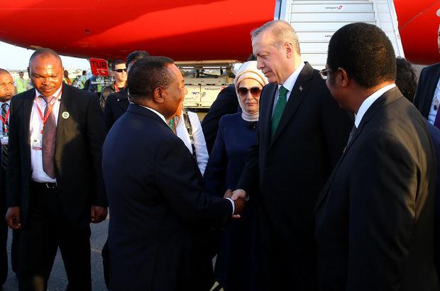 Erdoğan'a Tanzanya'da resmi karşılama