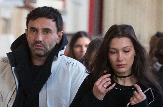Bella Hadid ve Riccardo Tisci yakalandı