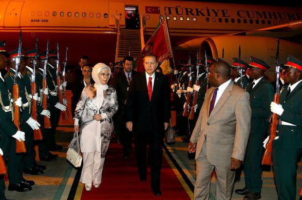 Cumhurbaşkanı Erdoğan Mozambik'e geldi